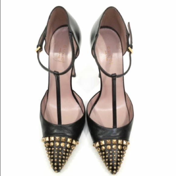 674d3f29dbf Gucci Shoes - Authentic Gucci T-strap studded heels